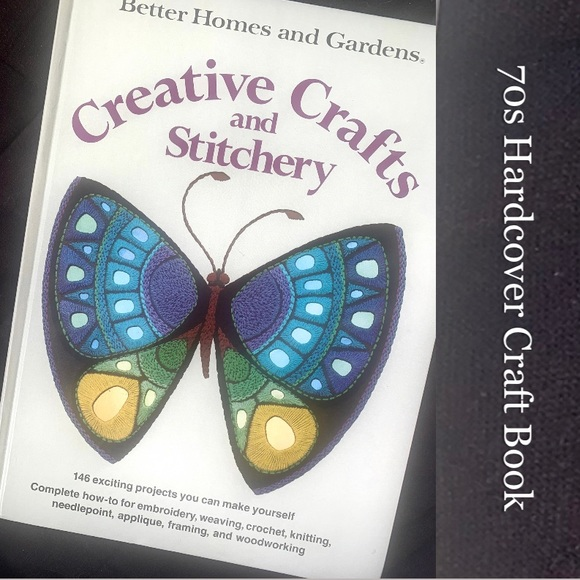 70s Creative Crafts Book, Vintage How-to BH & G